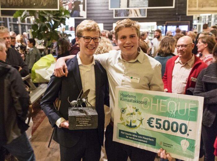 De Winnaars Van Het Initiatievencafé Van Vorig Jaar. De Bedenkers Van Het Olivijnpad.