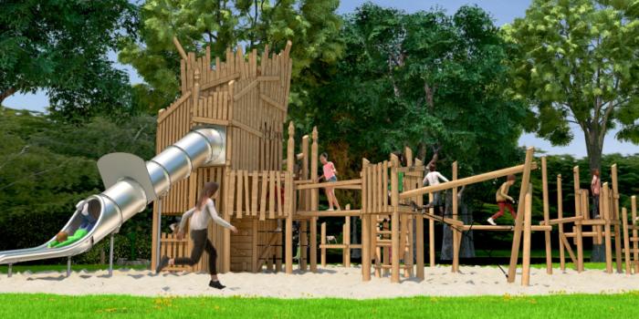 Ontwerp Van Het Nieuwe Speeltoestel In Het Noorderpark