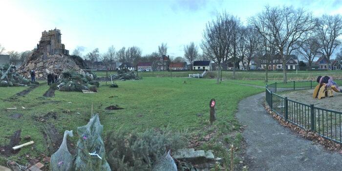 Beeld Van Een Dag Voor Het Oudejaarsvuur In 2012.