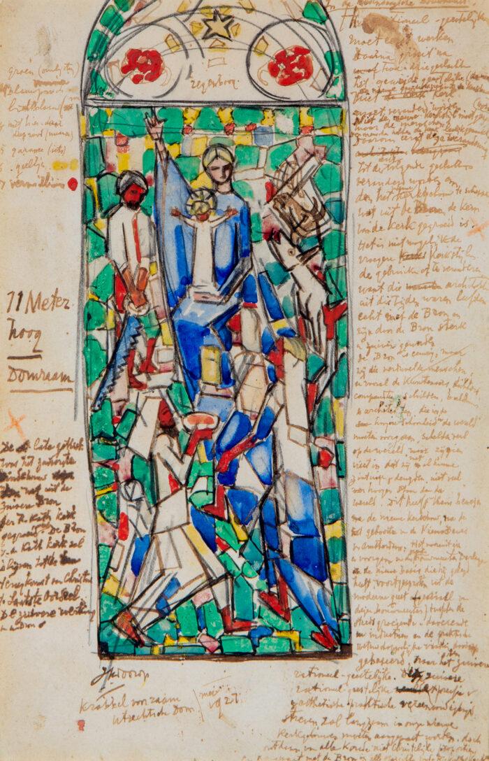 Beeld: Jan Toorop, Schets Aanbidding Der Koningen, 1927. Collectie Centraal Museum Utrecht