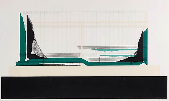 Marien Schouten, Zonder Titel, 1988, Lithografie