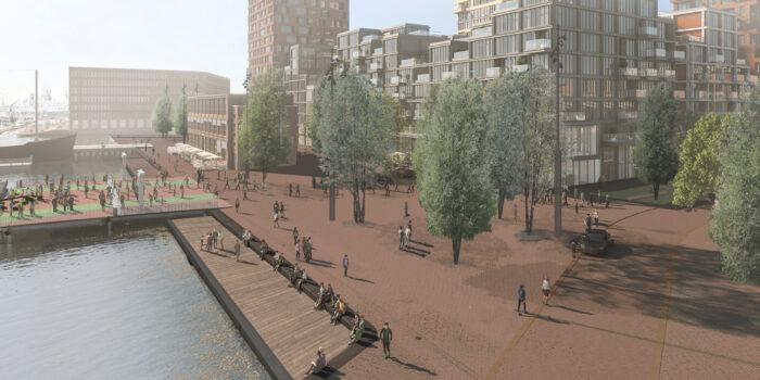 Deze Afbeelding Is Een Impressie Van De Gemeente Amsterdam, Het Geeft Een Indruk Hoe Het Gebied In De NDSM-Werf Eruit Komt Te Zien.