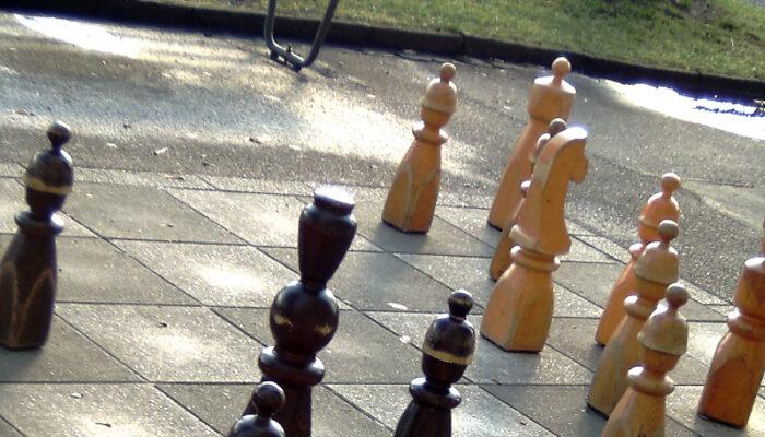 Groot Schaakbord Op Plein '40-'45