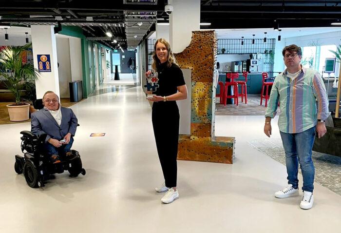Rick Brink (oud-Minister Gehandicaptenzaken), Judith Wiskie (HR Beleidsadviseur) En Bart De Bart (Oprichter Stichting Studeren & Werken Op Maat).