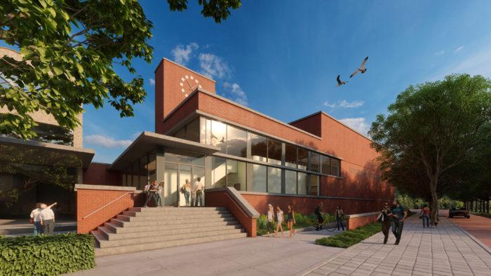 De Sporthal Door OLCO/AGS Architecten.