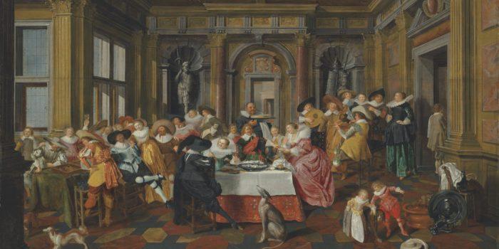 'Elegant Gezelschap In Een Hollandse Renaissancezaal'