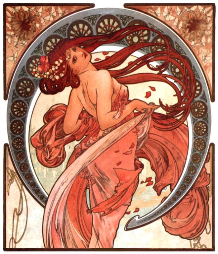 Het Art Nouveau Festijn-Den Haag Rond 1900 (affiche Van Alfons Mucha) Is Op Verschillende Locaties.